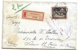 Pol072 / POLEN -Mi.Nr. 96 (Markwährung) 1919  Nach Belgien - 1919-1939 République