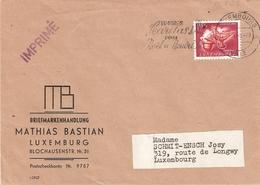Lettre (imprimé) Avec Timbre Caritas De 1954 - Luxembourg