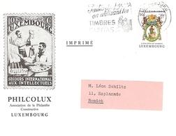 Lettre (imprimé) Philcolux Avec Timbre Caritas De 1963 - Luxembourg