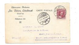 Carte Pub 1919 CHAUSSURES MODERNES JOS.PETERS à ETTELBRUCK (Luxemb Pour MANUFACTURE DE GUETRES à GRAVILLE HAVRE - Textile & Vestimentaire