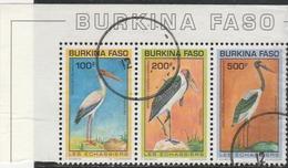 Burkina-Faso - Oiseaux : Les échassiers - Oblitere - Used - 1993 YT 868 + 869 + 870 - Burkina Faso (1984-...)