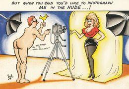 Nude Photo Shoot Comic Humour Postcard - Humor