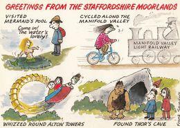 Staffordshire Bicycle Staffs Moorland Comic Humour Postcard - Humor
