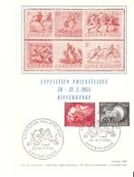 Carte Bastian: Exposition Philatélique Differdange 1955 - Cartes Commémoratives