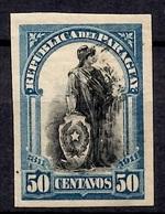 Paraguay YT N° 197 Variété De Couleur Noir Et Bleu Non Dentelé Neuf ** MNH. TB. A Saisir! - Paraguay
