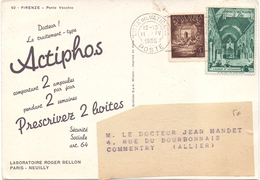 Carte Pub Medical Bronchocilline Laboratoir Roger Bellon Vatican - Vatican