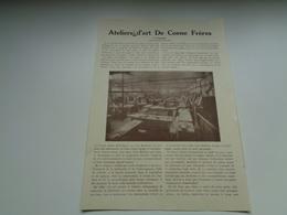 """Origineel Knipsel ( 2353 ) Uit """" Le Livre De L' Escaut Et Des Flandres """" 1930 : De Coene  Courtrai  Kortrijk  9 Blz. - Vieux Papiers"""