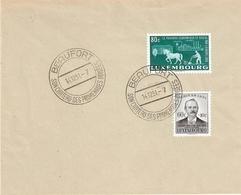 Lettre Avec Cachet Touristique De Beaufort Et Timbre Caritas De 1951 - Luxembourg