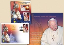 ROMANIA  2020  CENTENARY OF THE BIRTH OF POPE JOHN PAUL II - Philatelic Album  MNH** - Papas