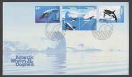 AUSTRALIE AAT 1995 FDC Baleines Et Dauphins - FDC