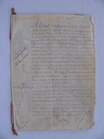 Manuscrit Sur Vélin 1776 SAINT MARTIN DE LA VERSINE LAVERSINES BEAUVAIS OISE 60 Cachet Généralité Paris 12 Sols - Manuskripte