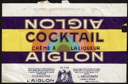 Emballage Chocolat AIGLON COCKTAIL Crème à La Liqueur N° 178 - Chocolaterie L'AIGLON - L. GRIVEGNEE Verviers - Autres