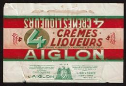 Emballage Chocolat AIGLON 4 CREMES LIQUEURS N° 113 - Chocolaterie L'AIGLON - L. GRIVEGNEE Verviers - Autres
