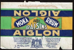 Emballage Chocolat AIGLON MOKA RHUM Aux Raisins N° 198 - Chocolaterie L'AIGLON - L. GRIVEGNEE Verviers - Autres