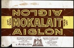 Emballage Chocolat AIGLON MOKALAIT N° 183b - Chocolaterie L'AIGLON - L. GRIVEGNEE Verviers - Autres