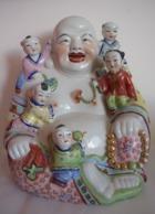 Grand Bouddha Assis Porcelaine - Asian Art