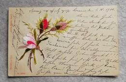 Cartolina Postale Ricamata Da Muralto (CH) Per Godesberg 1900 - Embroidered