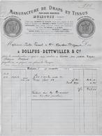 Haut Rhin - Mulhouse - DOLLFUS - DETTWILLER - Manufacture De Draps Et Tissus - 1800 – 1899