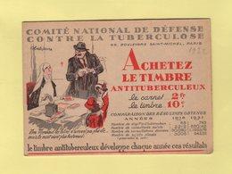 Carnet De 1932 - Comite National De Defense Contre La Tuberculose - Antituberculeux