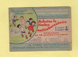 Carnet De 1931 - Comite National De Defense Contre La Tuberculose - Antituberculeux
