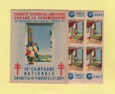 Carnet 16eme Campagne Nationale Contre La Tuberculose - 1946 - Antituberculeux