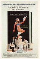 Myra Breckinwidge Raquel Welch Mae West Movie Advertising Postcard - Affiches Sur Carte