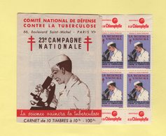 Carnet 23eme Campagne Nationale Contre La Tuberculose - 1953 - Antituberculeux