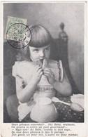 Enfant : Fille : Deux Gateaux Ensemble ? ...........  ( Au Dos - Publicité Chocolat LOUIT ) - Scènes & Paysages