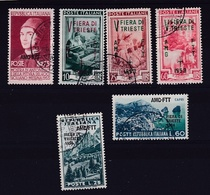 1953 1954 Italia Italy Trieste A 3 Serie Usate: FIERA TRIESTE '53 E '54, ANTONELLO Usate USED - 7. Triest