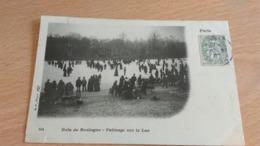CPA -  PARIS - 144. BOIS DE BOULOGN Patinage Sur Le Lac - Parcs, Jardins