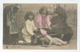 Cpa Fantaisie  Enfants Ange 1907 - Angels