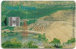 Ghana - Ghana Telecom - Akosombo Dam - 09.2001, SC7 (SchlumbergerSema), 150U, 60.000ex, Used - Ghana