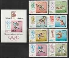 DUBAI - N°315/22+BLOC N°49 ** (1968) J.O De Mexico - Dubai
