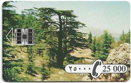 Lebanon - Sodetel (Chip), Cedar Tree, SC7, 25.000LL/100U, 3.000ex, Mint - Libanon