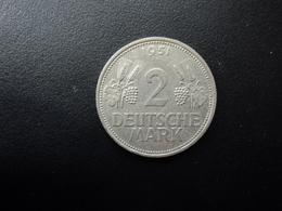 RÉPUBLIQUE FÉDÉRALE ALLEMANDE : 2 DEUTSCHE MARK   1951 D    Tranche A *   KM 111     SUP - [ 7] 1949-… : RFA - Rep. Fed. Alemana