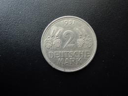 RÉPUBLIQUE FÉDÉRALE ALLEMANDE : 2 DEUTSCHE MARK   1951 D    Tranche B *   KM 111     SUP - [ 7] 1949-… : RFA - Rep. Fed. Alemana