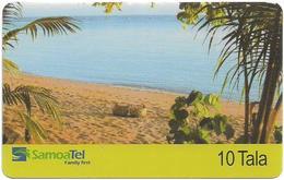 Samoa - SamoaTel (Inductive) - Beach Scene, 10Tala$, Exp.date 12.2003, 50.000ex, Used - Samoa