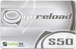 Samoa - SamoaTel - Go Reload (Gray), 50Tala$, Exp.date 31.01.2009, Used - Samoa