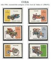CUBA 1984. 6 Sellos AUTOMOVILES ANTIGUOS Yvert: 2586/91 - Voitures