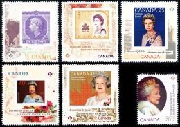 Canada (Scott No.2513-18 - 60e Reine / Elizabeth / The Queen 60e) [**] (P) Série De 6 / Set Of 6 - Neufs