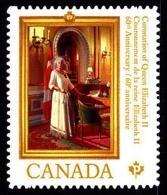 Canada (Scott No.2644 - 60e Couronnement De La Reine / 60th Queen Coronation) (**) Autocollant / Adhesive - Neufs