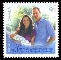 Canada (Scott No.2686 - Naissance D'un Prince / Birth Of Prince George Of Cambridge) (o) Adhésif - 1952-.... Règne D'Elizabeth II