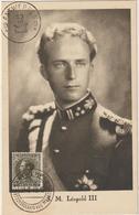 Carte Maximum BELGIQUE  N°Yvert 401 (Roi Léopold) Obl 1936 - Maximumkarten (MC)