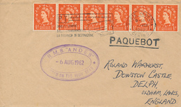 VENEZIA  - 1962  ,  PAQUEBOT  -  R.M.S. ANDES   - Nach OLDHAM / Lancashire - 1952-.... (Elisabetta II)