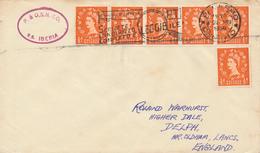 PALERMO  - 1959  ,  Paquebot  -  S.S. IBERIA   - Nach OLDHAM / Lancashire - 1952-.... (Elisabetta II)