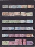 Lot De 31 Timbres Fiscaux - Algeria (1924-1962)