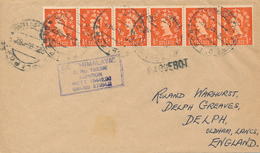 NAPOLI PORT  - 1962  ,  PAQUEBOT  -  S.S. HIMALAYA  - Nach OLDHAM / Lancashire - 1952-.... (Elisabetta II)