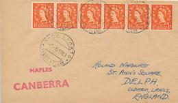 NAPOLI PORT  - 1961  ,  Paquebot  -  S.S. CANBERRA  - Nach OLDHAM / Lancashire - 1952-.... (Elisabetta II)