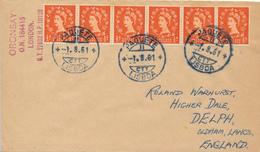 LISBOA  - 1961  ,  PAQUEBOT -  S.S. ORONSAY  - Nach OLDHAM / Lancashire - 1952-.... (Elisabetta II)