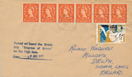 LISBOA  - 1962  ,  Paquebot  -  S.S. EMPRESS OF BRITAIN   - Nach OLDHAM / Lancashire - 1952-.... (Elisabetta II)